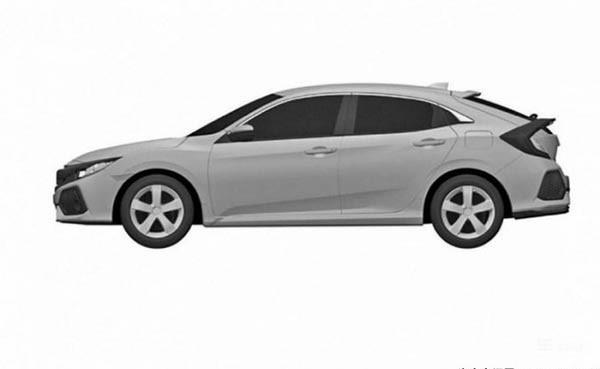 下一代两厢思域专利图 采用概念车设计